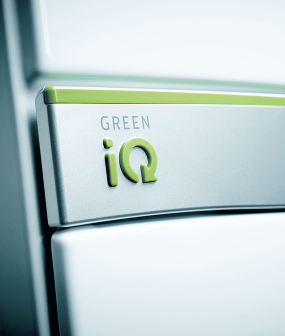 ecoTEC exclusive gasfyr nærbillede med green iQ